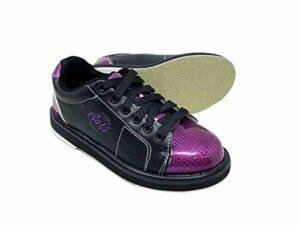 SaVi Chaussures de Bowling Classiques pour Femme Violet/Noir à Lacets avec Semelles universelles pour droitiers ou gauchers de débutants aux Professionnels, Violet (Violet), 40 EU