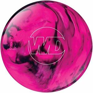 Bowlerstore Products Boule de bowling pré-percée Rose/noir à pois blancs, BSCA09C300COLPD20743, 14lbs