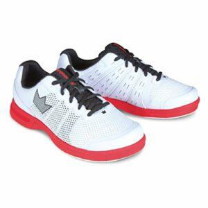 Brunswick Fuze Chaussures de Bowling pour Homme Blanc/Rouge, Homme, Fuze Chaussures de Bowling pour Homme Blanc/Rouge, BRU583041197, Blanc/Rouge, 6.5 UK