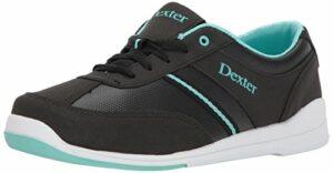 Dexter Dani Chaussures de Bowling, Femme, 4274-1, Noir/Turquoise, 9 UK