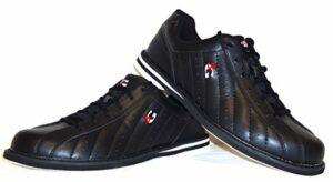 Chaussures de bowling 3G Kicks, pour homme et femme, pour droitiers et gauchers 46 noir