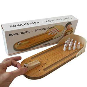 通用 Mini boule de bowling en bois pour enfant