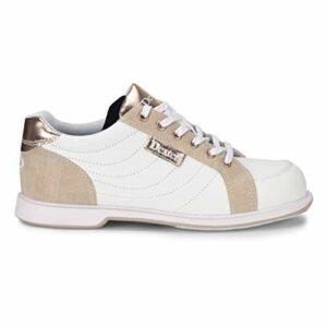 Dexter Groove IV Chaussures de bowling pour femme Blanc/nubuck/or rose 11 M US