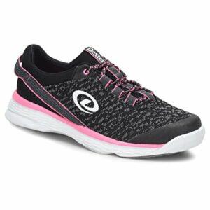 Dexter Jenna 2 Chaussures de Bowling pour Femme Noir/Gris/Rose 10