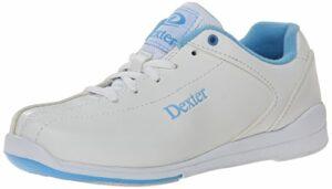 Dexter Raquel IV Chaussures de Bowling pour Femme – – Blanc/Bleu, 41 EU