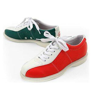 Chaussures de bowling légères à semelle plate pour homme, Rouge, 45 1/3 EU