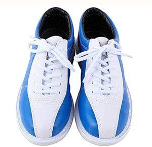 Gmnoy Chaussures de Bowling Unisex Chaussures Bowling et avancées Chaussures de Bowling léger et Respirantes Chaussures de Formation en Cuir de Bowling (Color : Blue Blue, Size : 38)
