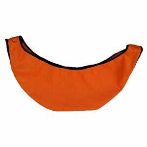 Baoblaze Portable Bowling Ball Sac See-Saw Cleaner Ball Polisseur Et Transporteur de Gym Équipement avec Cordon pour Bowler – Orange, 50X23cm