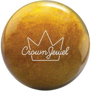 Brunswick Crown Jewel Boule de bowling Doré scintillant 6,4 kg