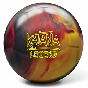 Radical Katana Legend, Mixte Adulte, Katana Legend Bowling Ball- Black/Red/Gold 15lbs, Noir/Rouge/doré, 15