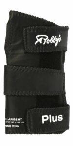 Robby's Gant de Bowling Gauche en Cuir véritable Noir Noir Moyen