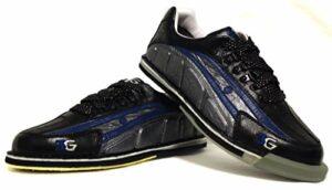 3 G Chaussures de Bowling Larges pour Homme avec Tour en wechselsohle -hacke/Ultra-déchirures Noir Noir/Bleu 8 US