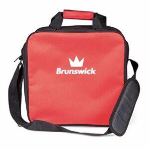 Brunswick TZone Single Tote Sac de survie 1 ballon de bowling – Rouge – rouge, Taille unique
