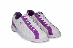 Chaussures de bowling 3G Kicks, pour homme et femme, pour droitiers et gauchers, weiß-lila